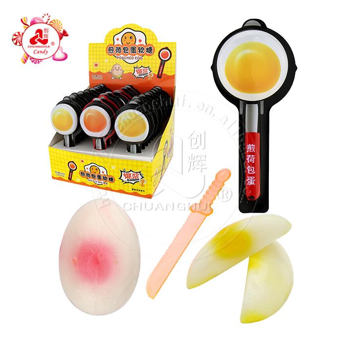 Желейные конфеты в форме яйца-пашот