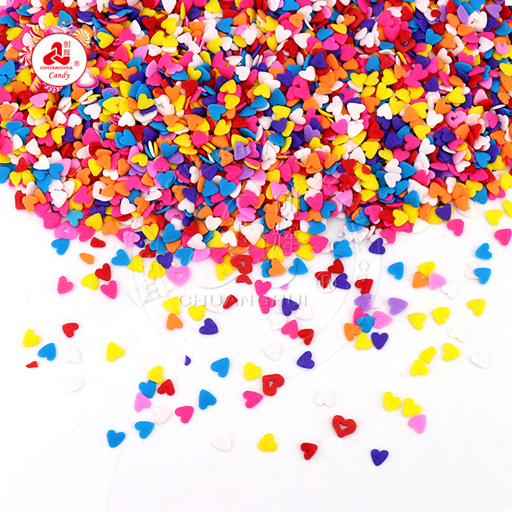 Cake decoration pressed tablet candy edible love heart shape sugar Baking materials cake sprinkles