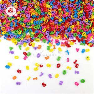Décoration de gâteau comprimés pressés bonbons Numéro de l'alphabet sucre Matériaux de cuisson pépites de gâteau