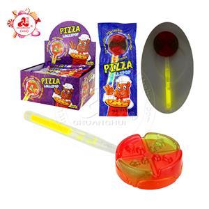 Пицца леденец конфеты флуоресцентный леденец на палочке пицца неоновое освещение светящаяся палочка