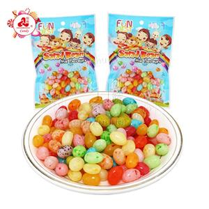 Halal colorful fruit gummy 150g Salad Jelly Bean candy sweet jelly candy
