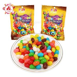 Halal mix fruit flavor 150g jelly bean candy in bag sweet jelly candy