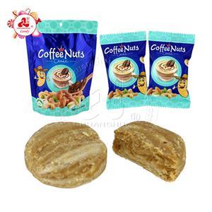 Caramelo de cacahuete crujiente de las nueces del sabor del café en bolsas 250g con relleno de anacardo / pistacho / almendras