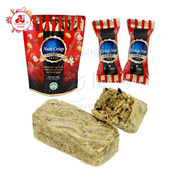 250g Bagged Brown sugar mix flavour nuts crisp peanut candy