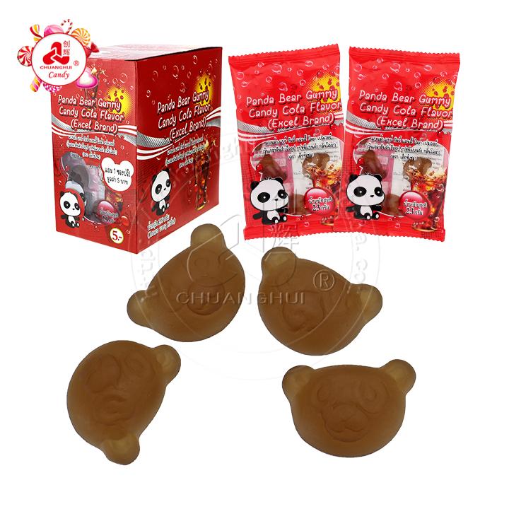 Bonbons gommeux Panda en forme de tête d'ours halal saveur cola