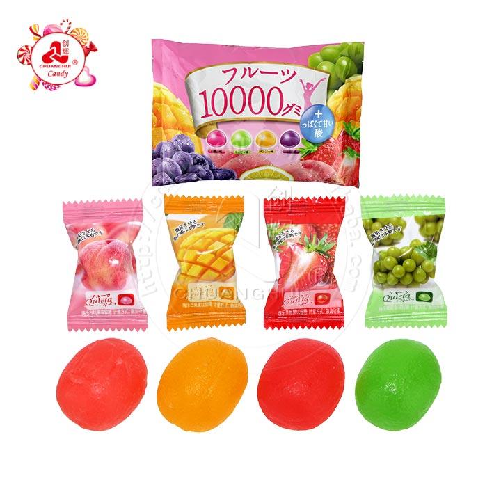 Collagène 10000 saveurs de fruits mélangés boule de bonbons gommeux doux