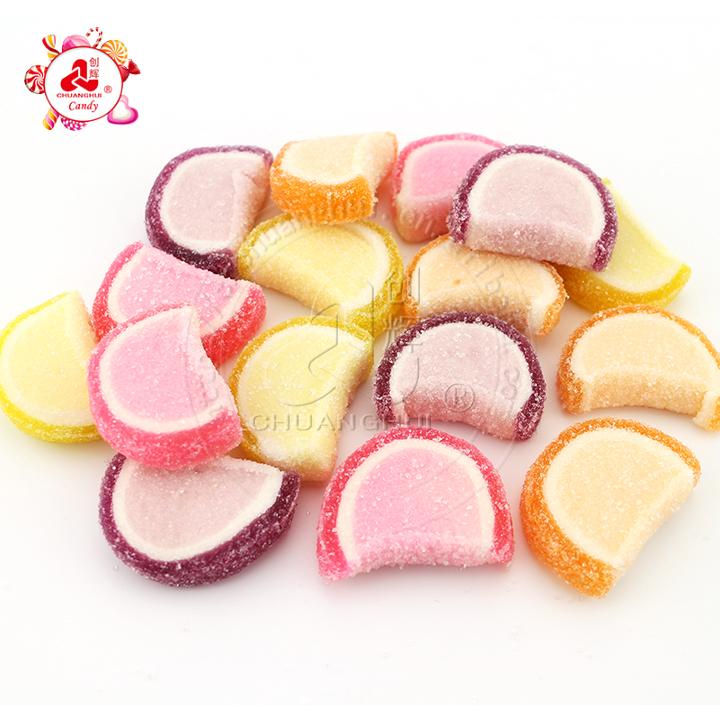 Vente en gros en vrac saveur de fruits sucrés tranche de pastèque bonbons gommeux doux