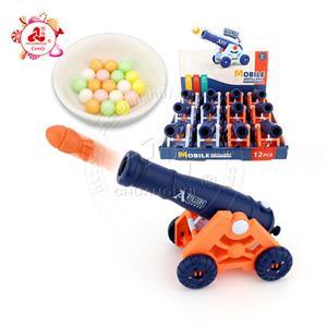 Нажмите кнопку запуска пуля-пушка игрушка мобильная артиллерийская игрушка-конфета