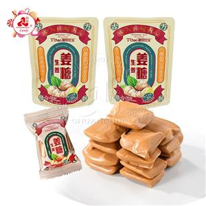 Chuanghui factory ginger juice brown sugar chinese confectionery chewy ginger soft candy