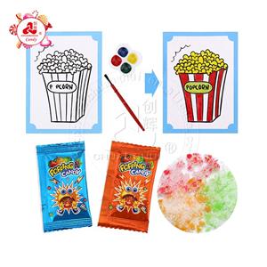 Jouets éducatifs pour enfants Carte de peinture à l'aquarelle avec motif de dessin animé bricolage avec des bonbons