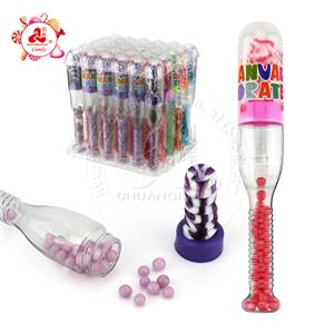 2 in 1 nipple lollipop candy with pearl candy baseball bat shape toy candy