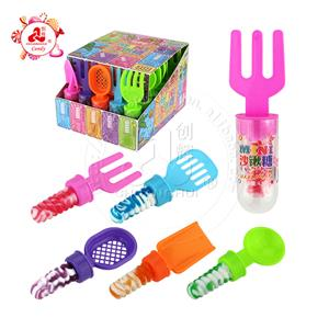 Mini beach shovel toys with nipple candy lollipop beach tools toy candy