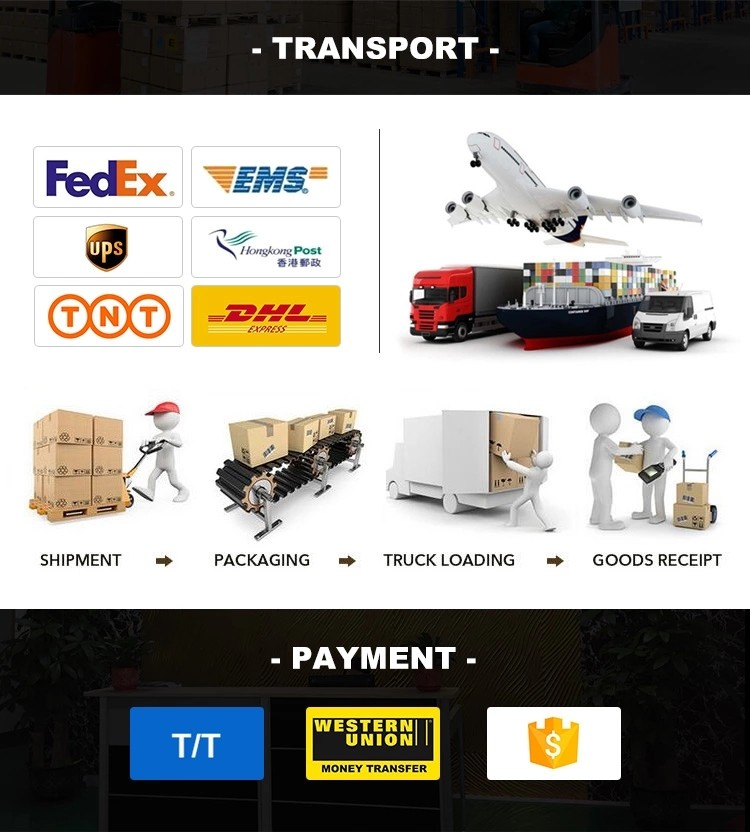 We ship products by air, by sea, by express delivery or by customers' needs
