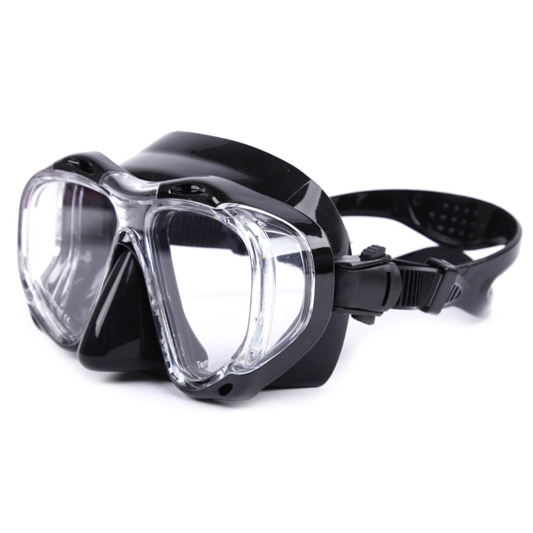 Wide view Liquid silicone mirror coating snorkel glasses MK-700