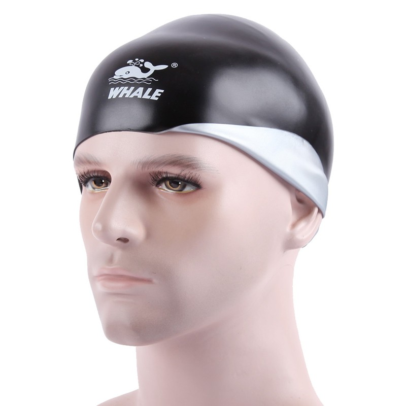 3D ear guard silicone both side wear swimming cap CAP-1800
