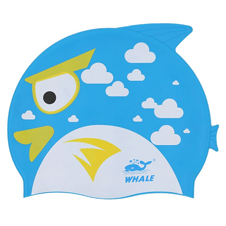 Kids fun fish shape cartoon certified entertaniment competion swimming caps CAP-1500