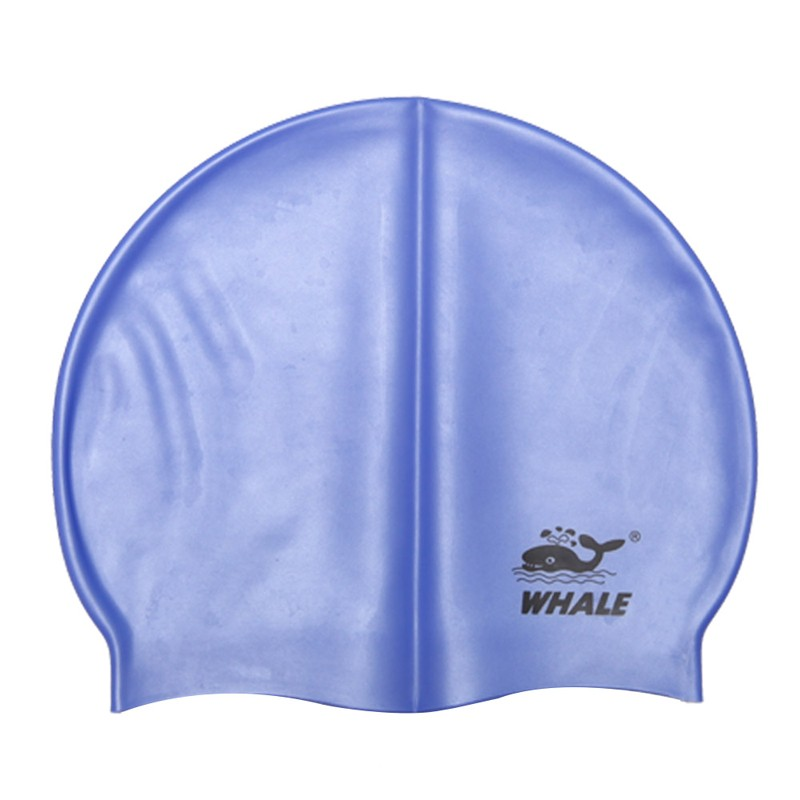 White rose violet gold nonslip round chinese swimming caps with PP Bag CAP-1900