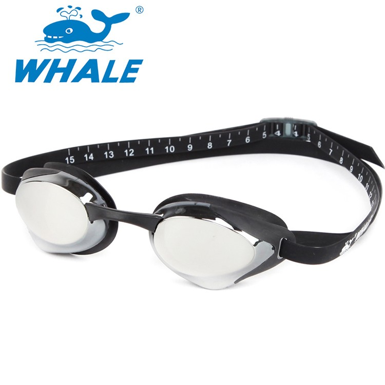WHALE brand pc lens digit ruler racing swim goggles CF-8500