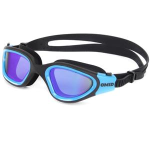 Silicone comfortable fit REVO lens racing swim glasses MM-7200