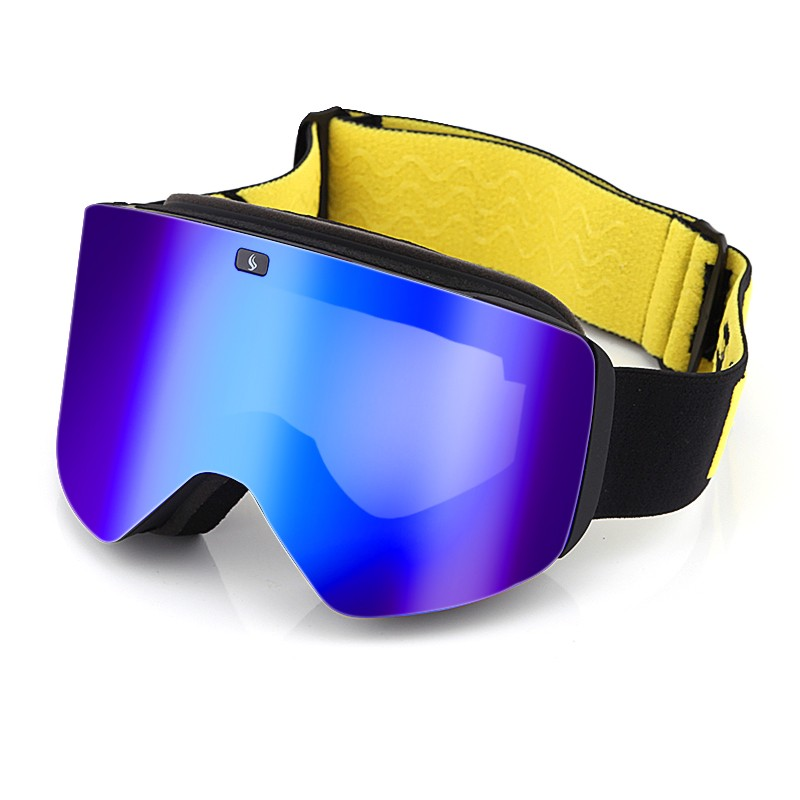 Snow Goggles with Magnetic Interchangeable Dual Layer Cylindrical Lens Anti-Fog UV Protection for Men Women Adult