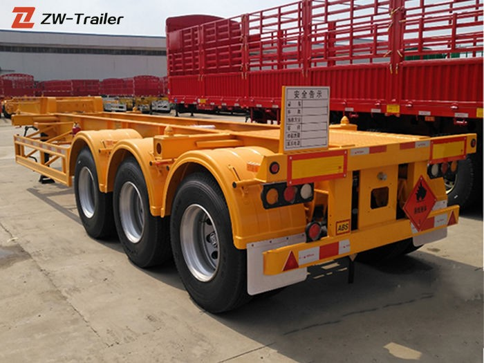Tri Axle Gooseneck Skeletal Container Delivery Trailer