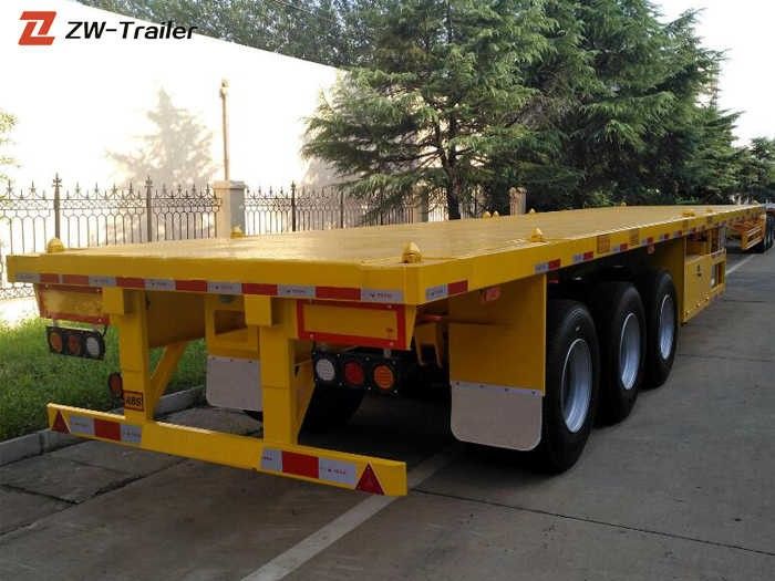 Heavy Duty 40ft Flatbed Container Semi Trailer