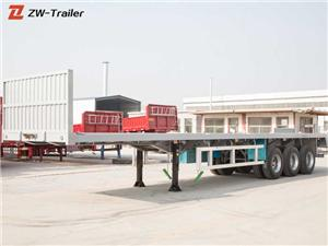 3 Axle 40 Feet Flatbed Flat Bed Semi Trailer