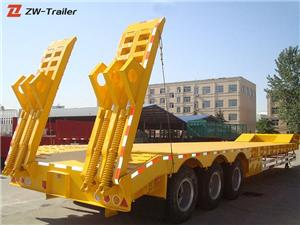 Gooseneck Lowboy Equipment Semi Trailer