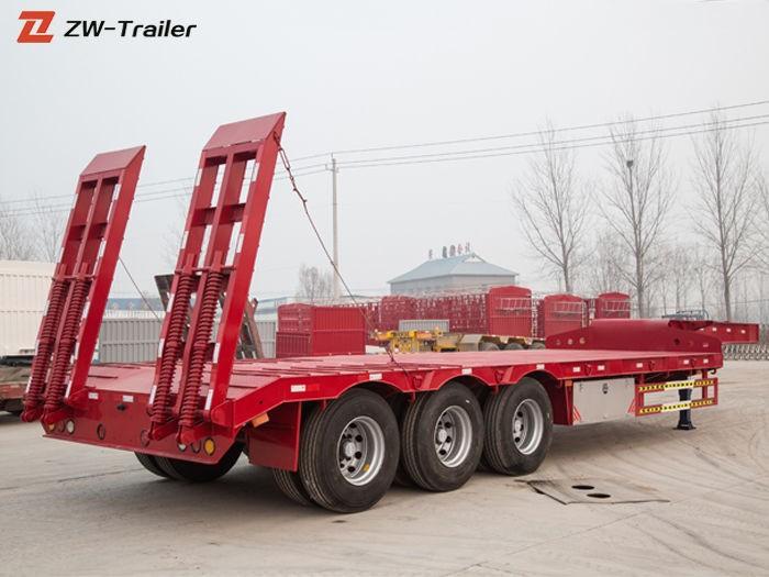 लो बेड लोवॉय सेमी ट्रक ट्रेलर