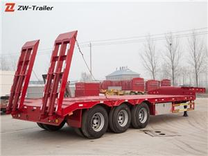 Low Bed Lowboy Semi Truck Trailer
