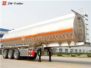45000 Liters Aluminum Fuel Tanker Semi Trailer