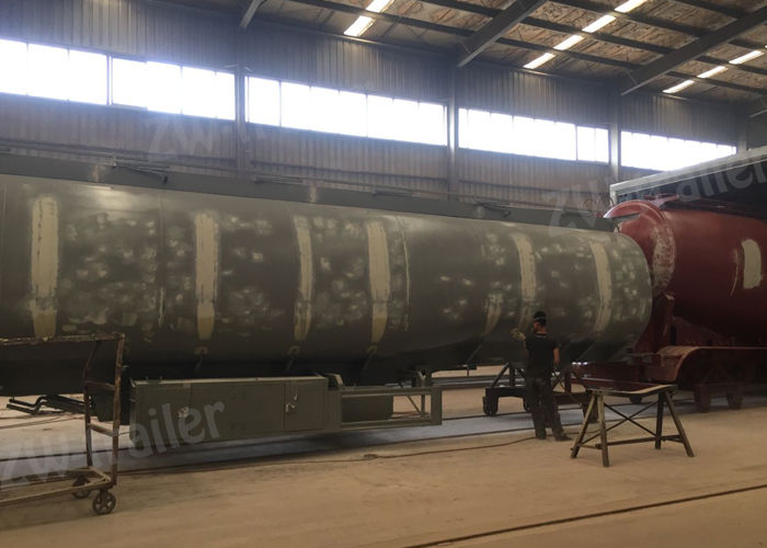 45m3 carbon steel fuel tanker trailer