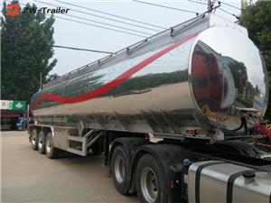 Tri Axle Stainless Steel Milk Fuel Tanker Truck Trailer