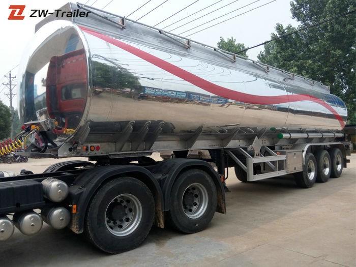 Tri Axle Stainless Steel Milk Fuel Tanker Truck Trailer Manufacturers, Tri Axle Stainless Steel Milk Fuel Tanker Truck Trailer Factory, Supply Tri Axle Stainless Steel Milk Fuel Tanker Truck Trailer