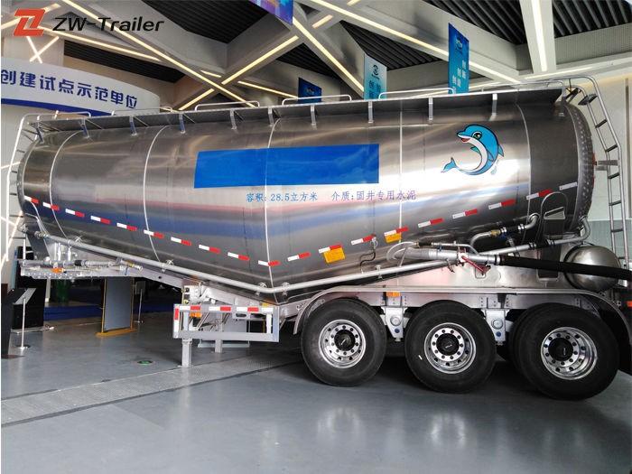 Remolque de camión cisterna de cemento a granel seco