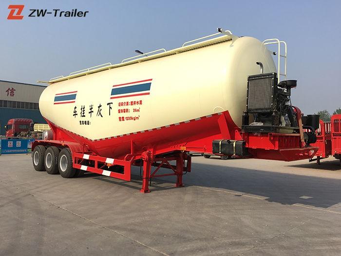 Remolque cisterna neumático de cemento a granel