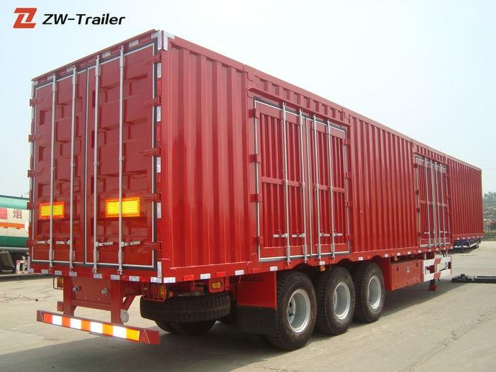 18 Wheeler 3 Axles Cargo Box Semi Trailer
