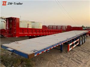 Used Tri Axle 53ft Flatbed Semi Trailers