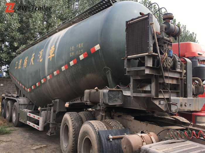 Used Bulk Cement Tanker Semi Trailer
