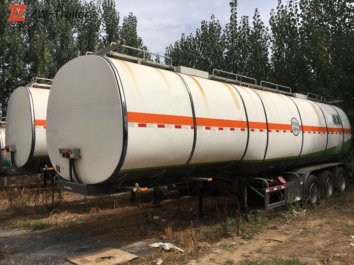 Used Stainless Steel Fuel Water Tanker Trailer