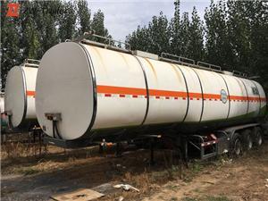 Trailer Tanker Air Bahan Bakar Stainless Steel terpakai
