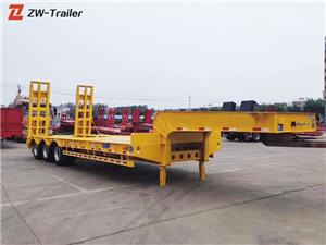 Used Low Bed Lowboy Equipment Truck Trailer