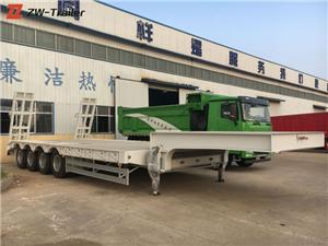 Front Loading Low Bed Trailer Transporter