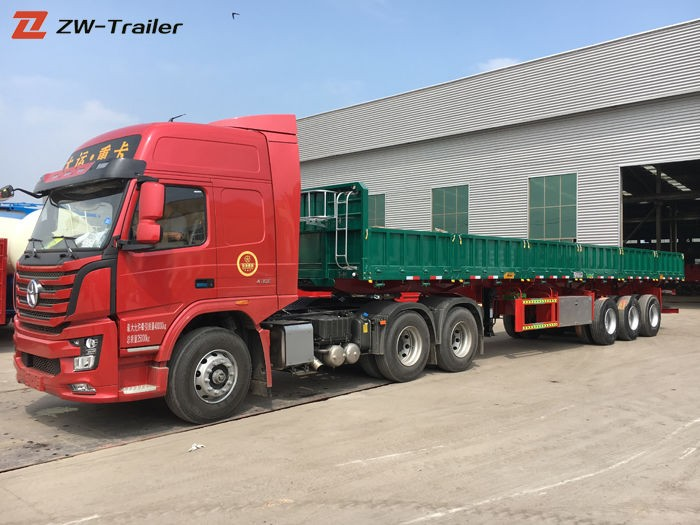 Cargo Transport Sidewall Side Wall Semi Trailer
