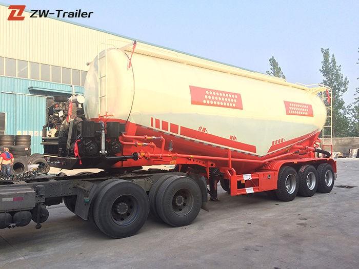 Semirremolque de tanque de silo de cemento a granel seco neumático