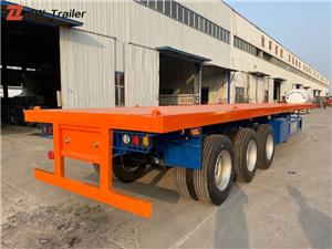 Shipping Tandem Flatbed Container Truck Trailer