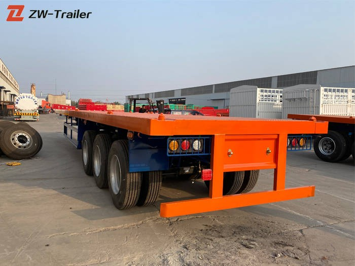 Shipping Tandem Flatbed Container Truck Trailer Manufacturers, Shipping Tandem Flatbed Container Truck Trailer Factory, Supply Shipping Tandem Flatbed Container Truck Trailer