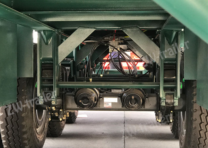tandem flatbed semi trailer