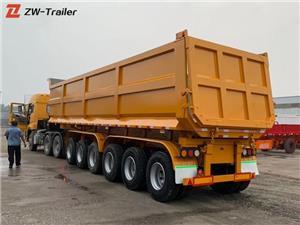 ہیوی ڈیوٹی ہائیڈرولک ڈمپ ٹرک ٹریلر