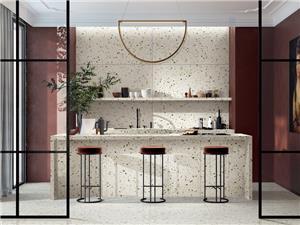Green Marble Terrazzo Kitchen Tile